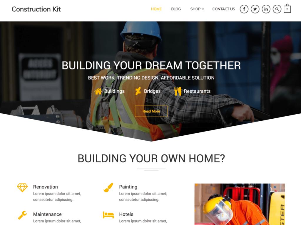 Construction Kit WordPress Theme