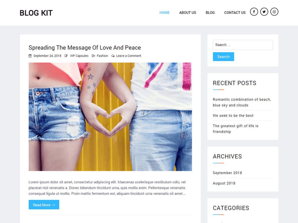 Blog Kit WordPress Theme