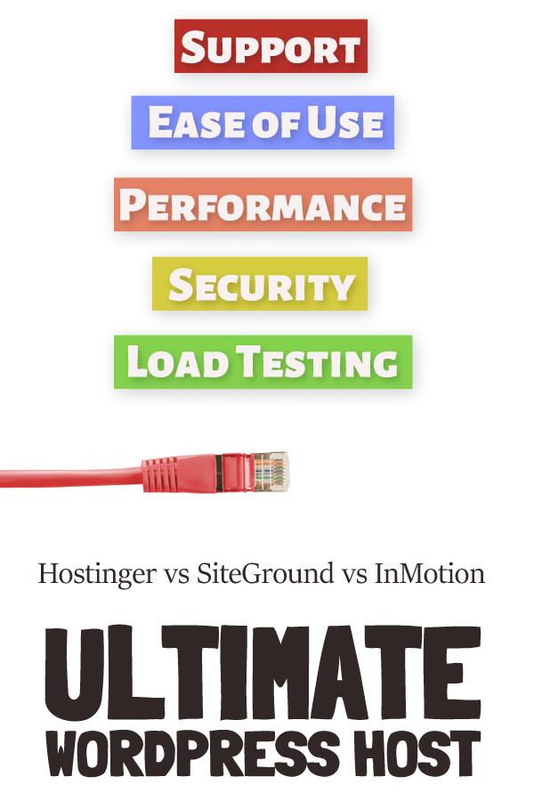 best wordpress host 2020 inmotion vs siteground vs hostinger