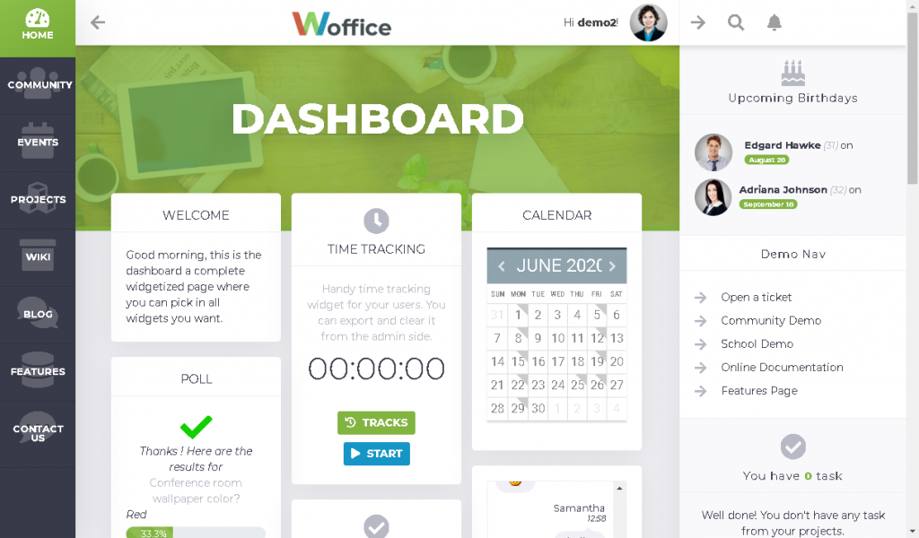 Woffice business BuddyPress theme
