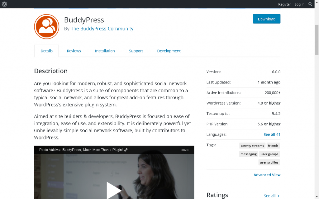BuddyPress is an open source plugin built by the community
